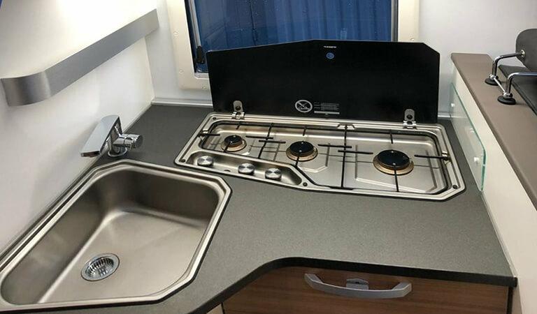 Innenraum Wohnmobil, Küche