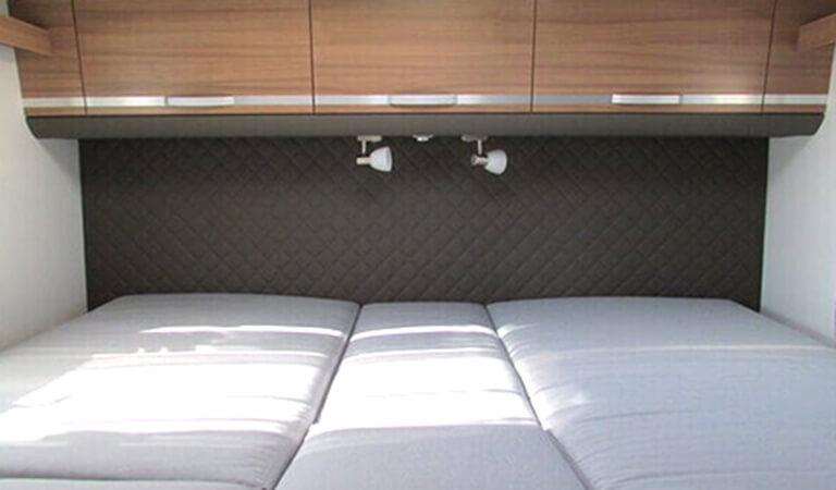 Innenraum Wohnmobil, Schlafbereich